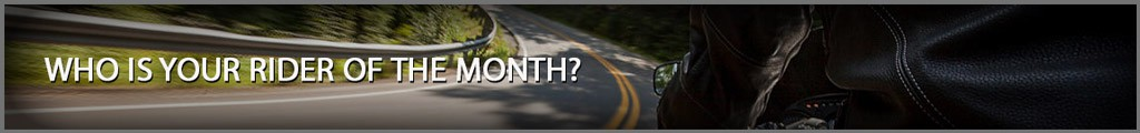 Rider of the Month Banner