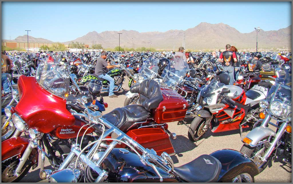 Arizona Bike Week Crowd