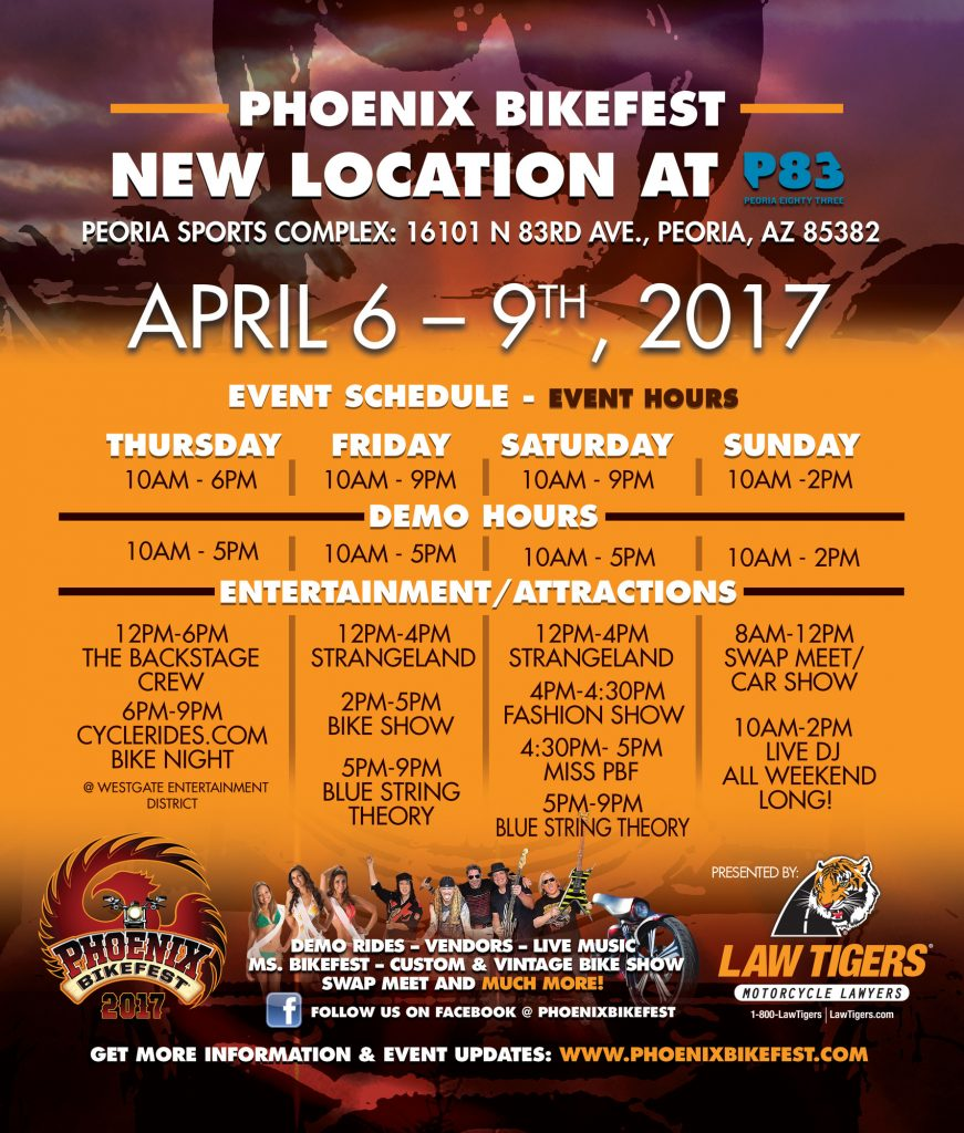 2017 Phoenix BikeFest Schedule of Events